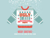 Christmasinvitation on sweater party
