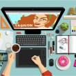 Постер, плакат: Creative Designers Workspace