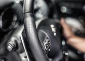 Closeup fotografie interiérů aut