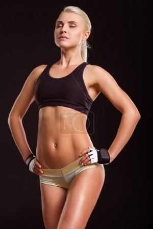 Beautiful strong sportswoman
