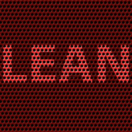 Illustration for Abstract vector background with title Lean. Lean is modern program of productivity usually used in manufacturing. Polygonal background pattern. - Royalty Free Image