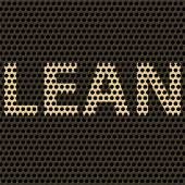 Abstract vector background with title Lean