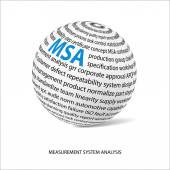 Measurement system analysis word ball (MSA)
