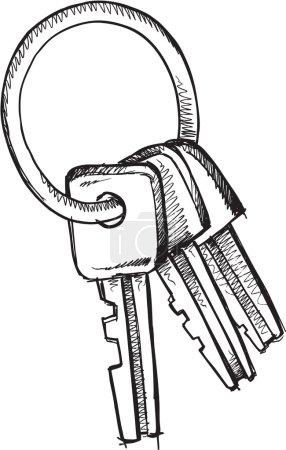 Doodle sketch Keys