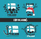 illustration of symbols of Finland