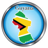 Vector Illustration for Guyana Round Button
