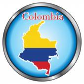 Vector Illustration for Colombia Round Button