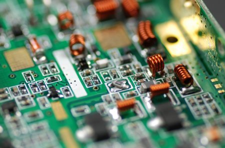 Photo for Stock pictures of electronic components used to build circuits - Royalty Free Image
