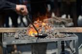 """Постер, картина, фотообои """"печь с горящими углями"""""""