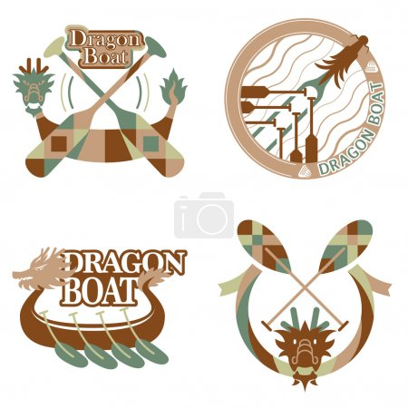 Dragon boat festival items design set