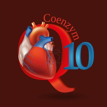 Schematic representation of Coenzyme Q10