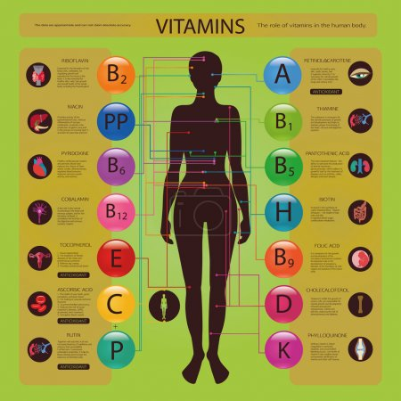 Effect of vitamins on body
