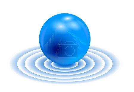 3 d - sphere. Wallpaper.