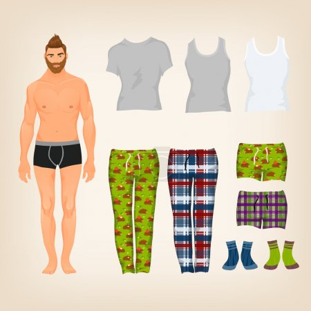 Dress up male paper doll