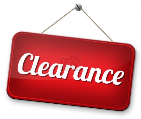 Final stock clearance sale