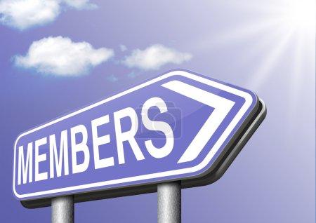 Photo pour Membres seuls accès adhésion requise Registre maintenant zone réglementée - image libre de droit
