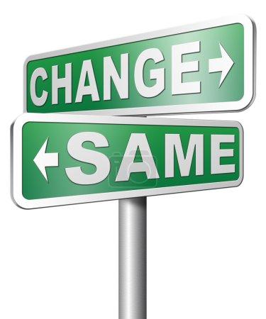 Same or change sign