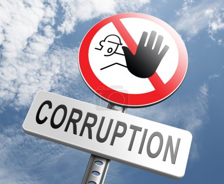 Stop corruption fraud and bribery
