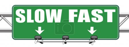 Fast or slow pace sign