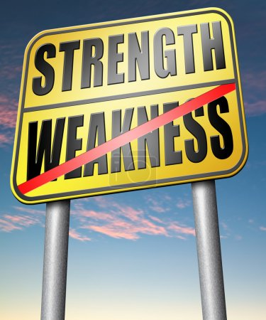 Strength versus weakness sign