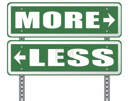 More or less road sign