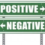 Постер, плакат: negative or positive thinking
