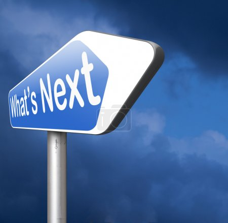 what's next road sign