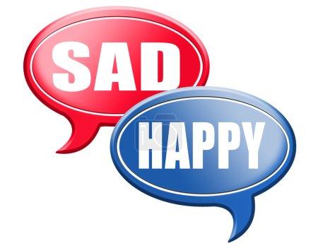 happy or sad speech bubbles