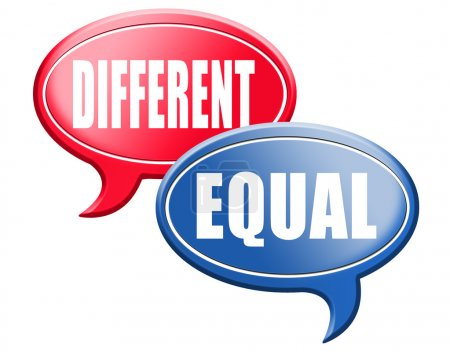 Equal or different speech bubbles