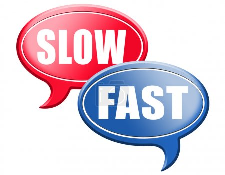 Fast or slow speech bubbles