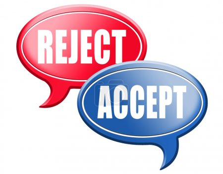 Accept or reject speech bubbles