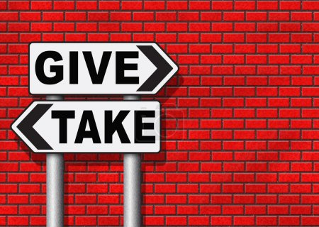 give take to charity and make