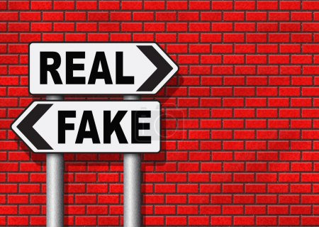 fake versus real critical thinking sign