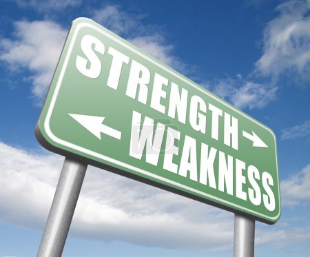 strength or weakness strong or weak points sign