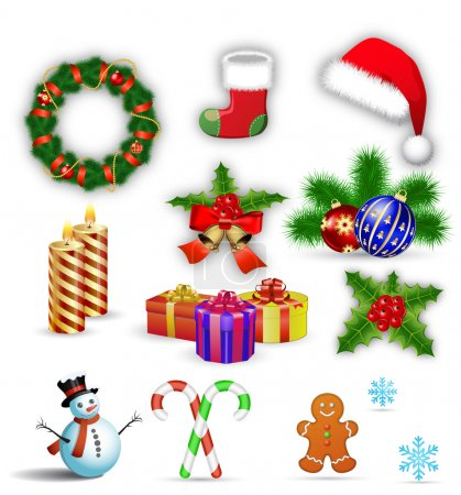 Merry Christmas design elements