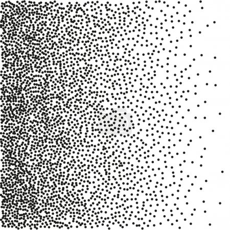 Illustration for Gradient Seamless Background with Black Dots. Dotwork Engraving Pattern Background. Vector Illustration. - Royalty Free Image