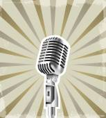 microphone retro background