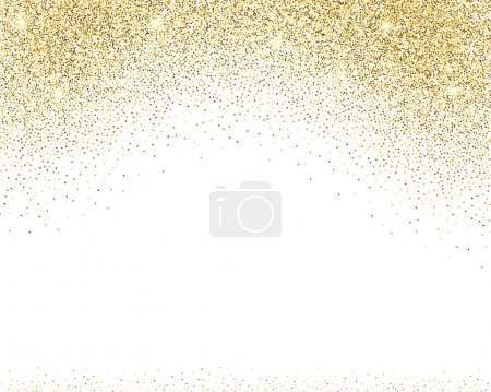 Illustration for Template for banner, flyer, save the date, birthday party or other invitation with gold background. Gold glitter card design. vector illustration  design template. - Royalty Free Image