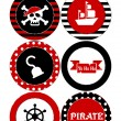 Party set printable. Pirate party. Eps 10...
