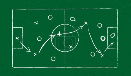 Illustration for Sport strategy on green field. eps10 - Royalty Free Image