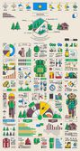 Mountain & Camping info graphics