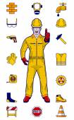 construction worker and elements