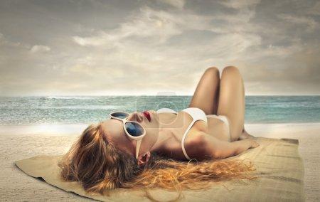 Woman in the beach