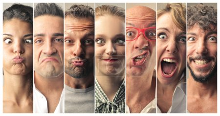 Photo for Portrait of people making funny faces - Royalty Free Image
