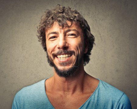 Photo for Portrait of happy man with a smile on his face - Royalty Free Image