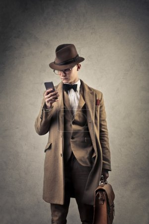 Man using the phone