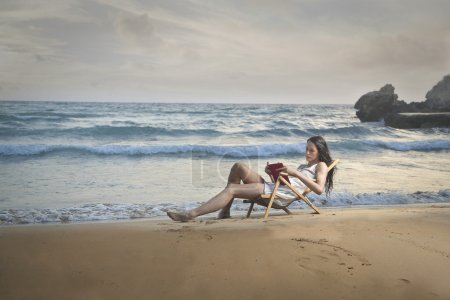 Reading a good book at the seaside