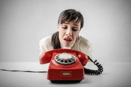 Photo for Woman waiting for phone call - Royalty Free Image