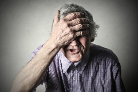 Photo for Man with expression of grief - Royalty Free Image