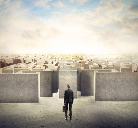 Maze toward work